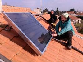 Chantier école installation de son chauffe-eau solaire à Cheméré (44) – Janvier 2015