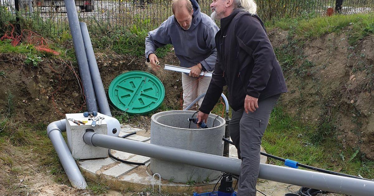 Installation d'un système d'eau pluviale